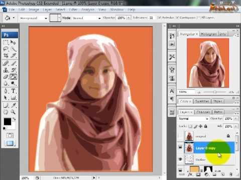Tips Trik Edukasi - Membuat Kartun pada Photoshop CS3