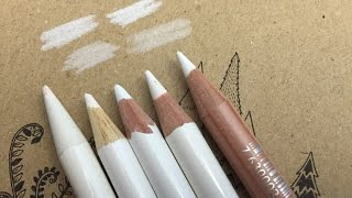getlinkyoutube.com-White Colored pencils: Some ways to use it!