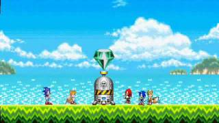 getlinkyoutube.com-Sonic, Knuckles, And Tails: Battle in time!