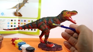 getlinkyoutube.com-Dinosaur toy painting with watercolors  | Dinosaurio de juguete para pintar con acuarelas - 1/6