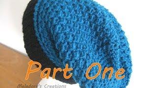 getlinkyoutube.com-Moss Stitch Slouch Hat Tutorial Pt 1 - Crochet tutorial (Crunch Stitch)