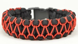getlinkyoutube.com-Make the 'Herringbone Stitched' Cobra Paracord Bracelet - Paracord.com