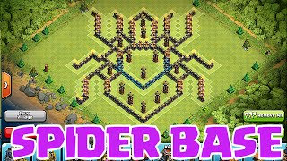 "getlinkyoutube.com-""Clash of clans SPIDER BASE"" (A Shocking design)"