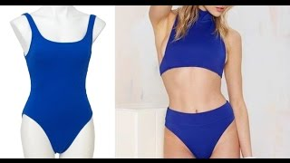getlinkyoutube.com-DIY High Waist Swimsuit