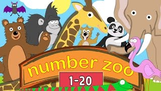 getlinkyoutube.com-Learn to Count to 20 with Number Zoo | Toddler Fun Learning Collection