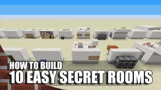 getlinkyoutube.com-10 Easy  Ways To Build Secret Rooms In Minecraft