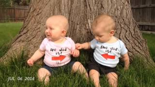getlinkyoutube.com-Boy/Girl Twins' First Year in Video