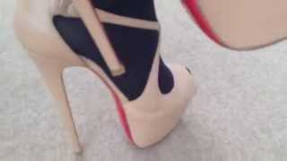 getlinkyoutube.com-Chrisrian Louboutin exagona 16cm heels
