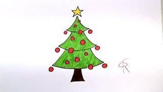 getlinkyoutube.com-Learn How To Draw A Festive Cartoon Christmas Tree -- iCanHazDraw!