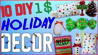 getlinkyoutube.com-10 DIY $1 Holiday Room Decor Ideas! | Dollar Store Christmas Room Decor! | Cheap And Easy To Make!