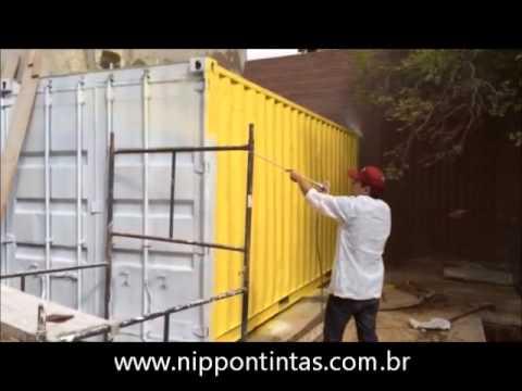 Máquina de Pintura Profissional - Pintura Airless - Container