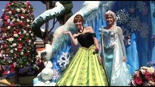 "getlinkyoutube.com-FULL ""Frozen"" Festival of Fantasy Parade at Magic Kingdom, Walt Disney World with Anna and Elsa"