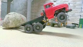 getlinkyoutube.com-HEAVY RC TRANSPORT l STRONG AND AWESOME MACHINES LOAD A 60t STONE!