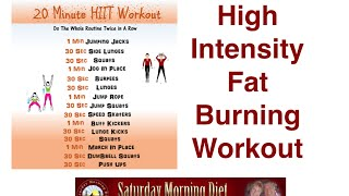 Burn Belly Fat With High Intensity  20 Minute Workout