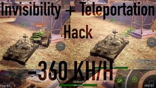 IS-7 + E4 Teleportation + Invisibility Hack [WoT Blitz]