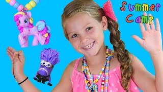 getlinkyoutube.com-MY LITTLE PONY & MINION Homemade Toy Necklaces Do It Yourself - Learning at DCTC Summer Camp!