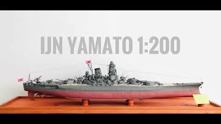 IJN Yamato 1:200 Paper Model