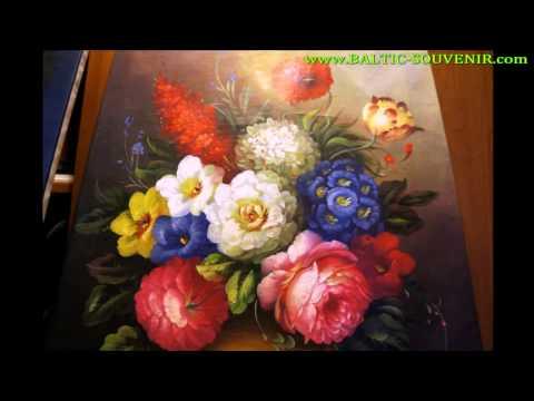 Цветочная фантазия, картина маслом на холсте в Калуге