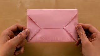 getlinkyoutube.com-Origami Brief: Briefumschlag falten Din A4 - Kuvert selber basteln mit Papier - DIY
