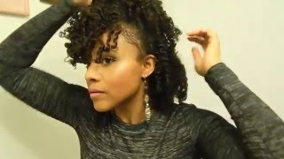 getlinkyoutube.com-Natural hair -My quick go-to faux-hawk on a twist-out