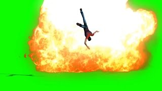 getlinkyoutube.com-Green Screen Action Movie Man Run  Explosion - Footage PixelBoom