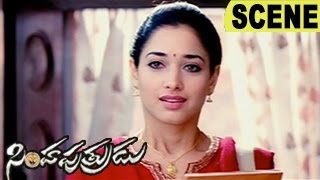 Tamanna Emotional Scene - Dhanush Comedy With Ganja || Simha Putrudu Movie Scenes width=