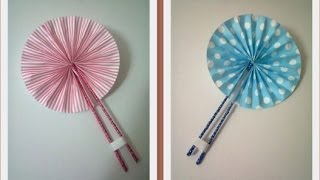 getlinkyoutube.com-DIY : #8 Cute Hand Fan ♥