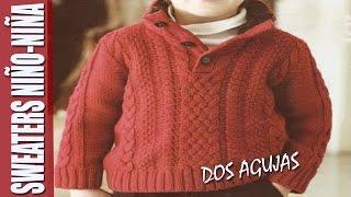 getlinkyoutube.com-Sweaters para NIÑO-NIÑA  en dos agujas
