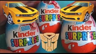 getlinkyoutube.com-TRANSFORMERS Kinder Surprise Eggs Opening Inc OPTIMUS PRIME AND STARSCREAM