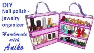 getlinkyoutube.com-DIY Nail polish and jewelry ORGANIZER