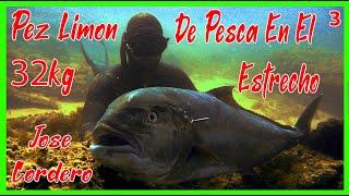 getlinkyoutube.com-PescaSub - Jose Cordero / Pez Limon - Serviola 32kg / Pesca Submarina - Spearfishing