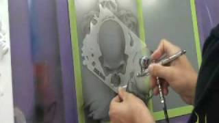 getlinkyoutube.com-Airbrush Skulls with 6 pack o skullz by Scott MacKay