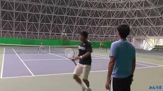 getlinkyoutube.com-【みんラボ】テニスラボ練習&ママさんサークル練習風景