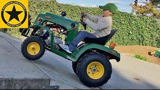 getlinkyoutube.com-JOHN DEERE TRACTOR for Children gasoline powered Test DRIVE by Jack