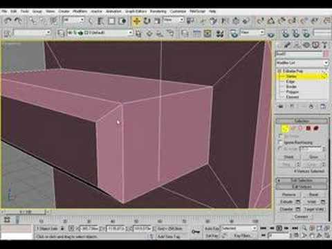 3d Studio Max tutorial: Editable Poly