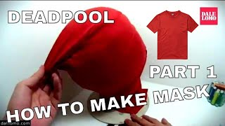Make Deadpool Movie Mask Part 1 - Template & Sewing Fabric DIY How to 1809 width=
