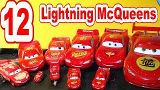 getlinkyoutube.com-Disney Pixar Car Collection of Lightning McQueen Toys, a new member of the Club