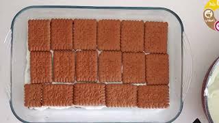 حلويات سهلة وسريعة التحضير في خمس دقائق روعه في المذاق كيك البسكويت حلوى بدون فرن