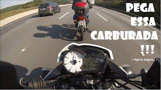 FAZER 150 TOP SPEED 140 RACHINHA COM A CARBURADA NÃO DÁ NÉ - MOTOKAVLOG