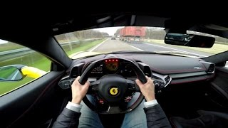 getlinkyoutube.com-POV Drive: Ferrari 458 Italia 290 km/h on the Autobahn!