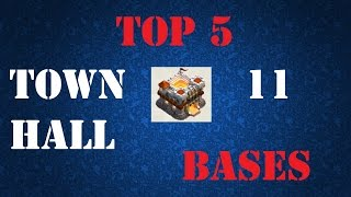 Top 5 Town Hall 11 War Bases Trophy Base - December Update - Clash of Clans