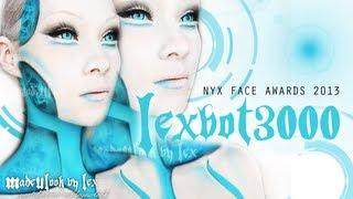 getlinkyoutube.com-Lexbot 3000 Robot Makeup Tutorial | NYX FACE AWARDS 2013