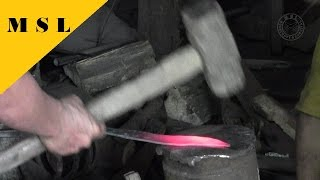 getlinkyoutube.com-How Asian Blacksmiths Make Handforged Machetes / From Start to Finish