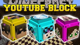 Minecraft: MINECRAFTER LUCKY BLOCK (DANTDM, SKYDOESMINECRAFT & CAPTAINSPARKLEZ!) Mod Showcase