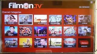 Filmon TV en Roku (500 canales gratis, 500 free channels live and on demand).