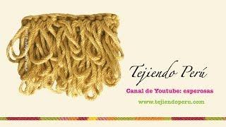 getlinkyoutube.com-Crochet: cómo tejer el punto rulo o bucle