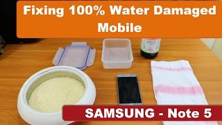 How to fix 100% water damaged Mobile   Samsung Galaxy Note 5 Tested