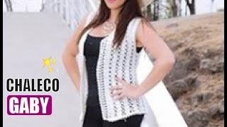 getlinkyoutube.com-CHALECO GABY -  Fácil y Rápido - Tejiendo con LAURA CEPEDA
