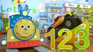 getlinkyoutube.com-Learn Numbers with Max the Train & Bill the Monster Truck – TOYS (Numbers and Toys)