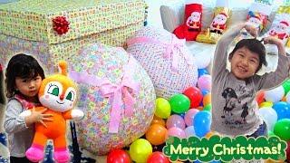 getlinkyoutube.com-クリスマスプレゼント開けたよ♡サンタさんありがとう!!It opened Christmas gifts サプライズエッグ Surprise Egg himawari-CH